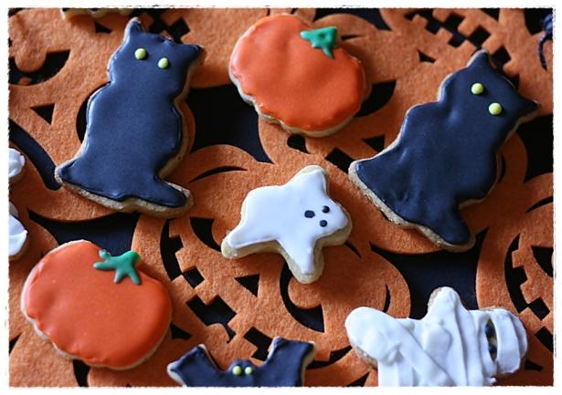 Biscotti Halloween (zucca, gatto nero, mumia, fantasma, pipistrello)5