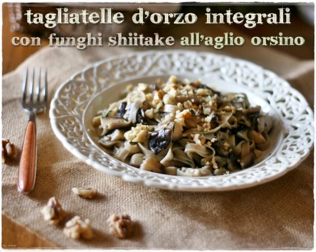Tagliatelle d'orzo con shiitake5
