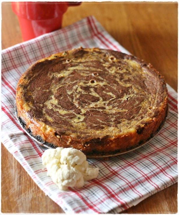 cheesecake cavolfiore e cioccolato