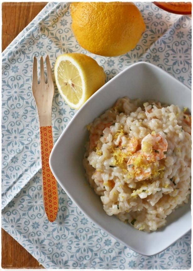 risotto mazzancolle e limone
