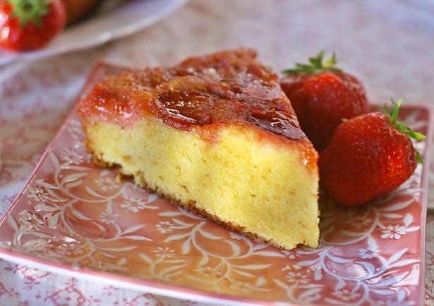 Torta rovesciata fragole
