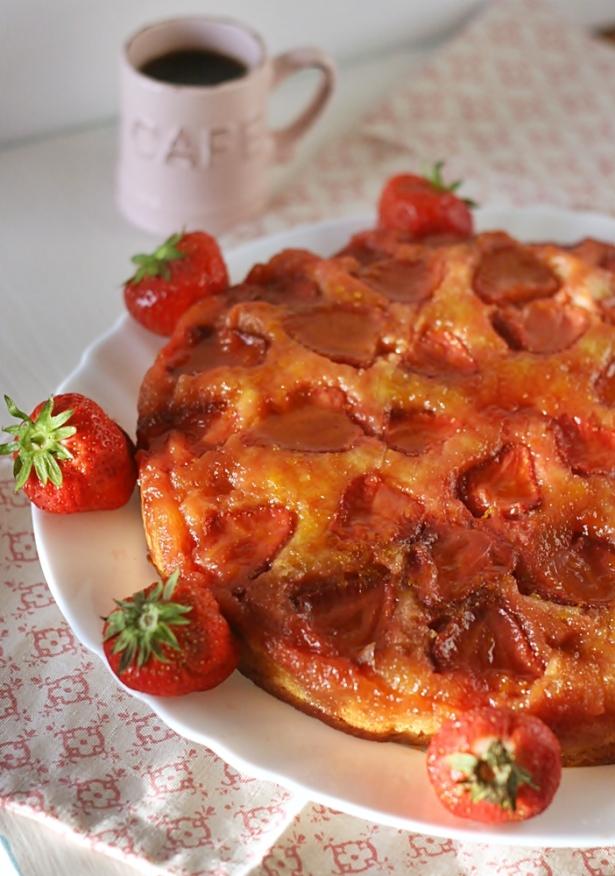 Torta rovesciata fragole4