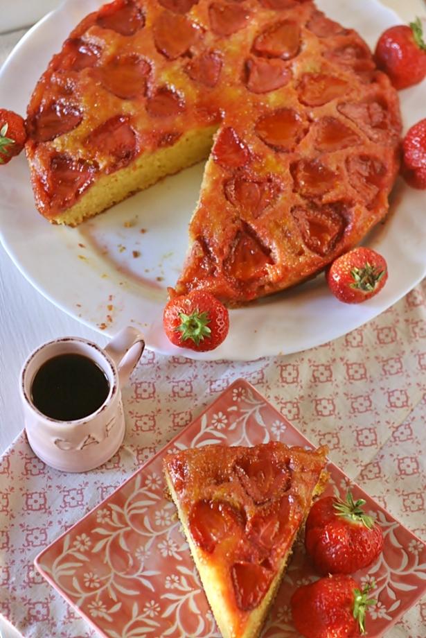 Torta rovesciata fragole6